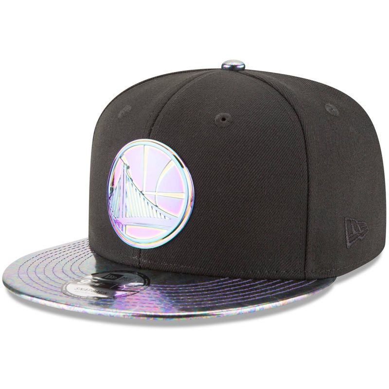 f8bb2443145 Golden State Warriors New Era Oil Tricked 9FIFTY Adjustable Snapback Hat -  Black