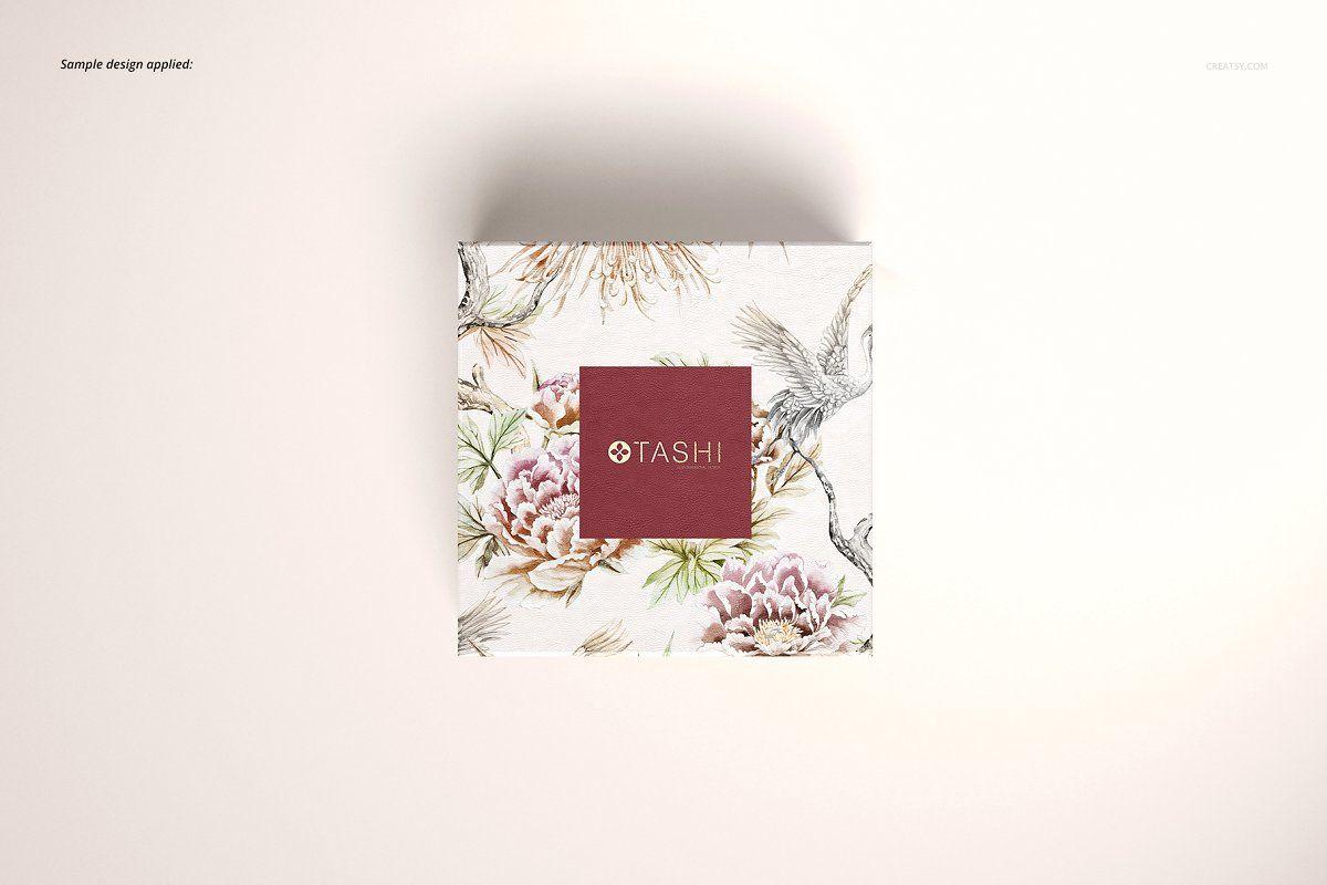 Download Jewelry Box Mockup Set 01 Vintage Business Cards Box Mockup Wedding Vector Graphics