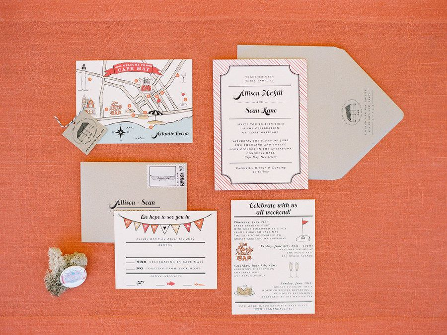 #paper-goods, #stationery  Photography: Trent Bailey Photography - trentbailey.com  Read More: http://www.stylemepretty.com/2013/08/02/cape-may-wedding-from-trent-bailey-photography/