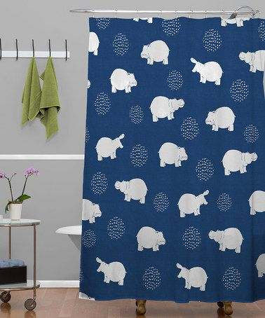Take A Look At This Blue Happy Hippo Shower Curtain By DENY Designs On Zulily Today
