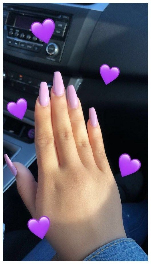 42 Pretty Simple Short Nail Design For Style 2019 00018 Purple Nail Designs Purple Nails Pretty Acrylic Nails