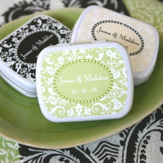 Damask Wedding Favor Mint Tins Event Blossom EB1072