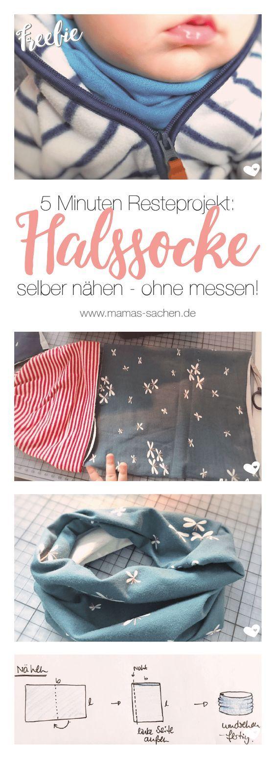 Halssocke nähen - kostenlose Anleitung und Schnittmuster   Babies ...