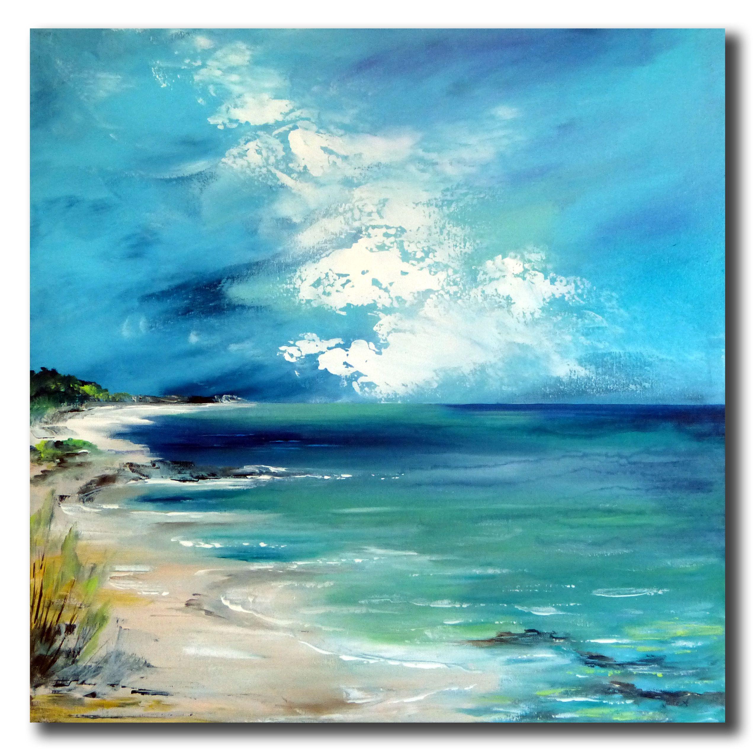 "Stella Hettner ""shining coast"" 60×60 cm"