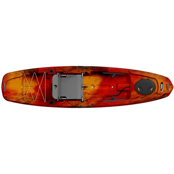 The Catch 120 Is An All New Pelican Premium Fishing Kayak Featuring A Wide And Flat Platform A Newly Developed Ergocast Dua Kayaking Kayak Paddle Kayak Fishing
