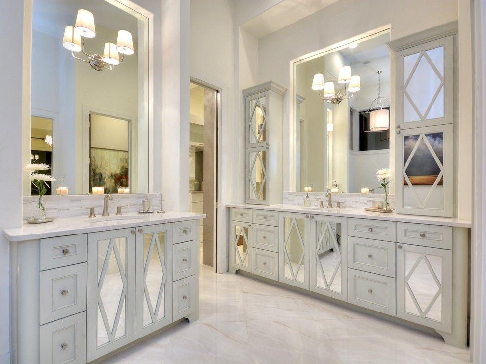 Mirrored Kitchen Cabinets Google Search Kitchen Pinterest Mirror Bathroom Mirror