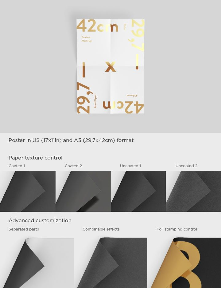 poster mock up in us and a3 formats present letters posters and