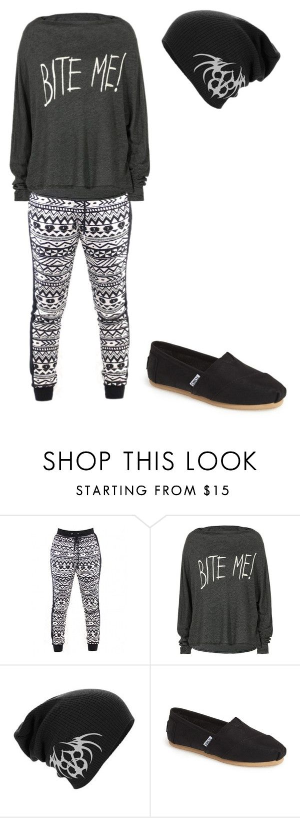 """Untitled #549"" by gibbgibb ❤ liked on Polyvore featuring Wildfox and TOMS"