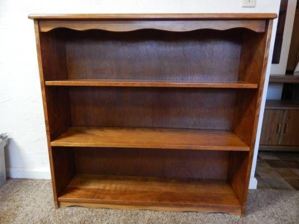 Vintage Maple Bookcase Scallop Edge Solid Wood Craigslist Wood