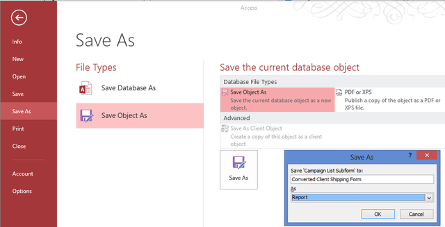 how to create forms and reports in microsoft access
