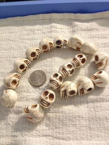 Large Howlite Skull Beads Starting At On Tophattercom - Tophatter com invoices