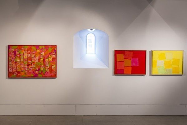 Bernat Klein, A Life in Colour, Carnival, Fornax and Perseus (LtoR), Dovecot Gallery, photo credit Stuart Armitt