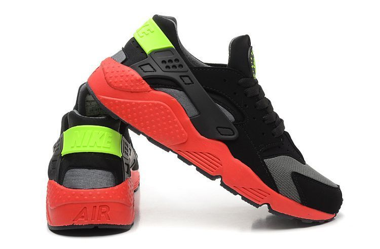 super popular b488f f767b Nike Huarache Premium black gray red green Men s shoes