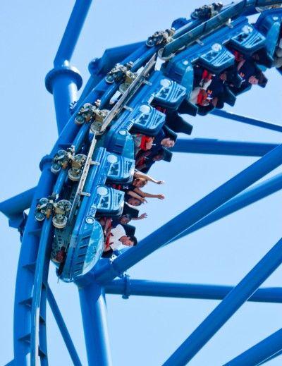 Six Flgs Mr Freeze Coaster Roller Coaster Amusement Park Rides Roller Coaster Ride