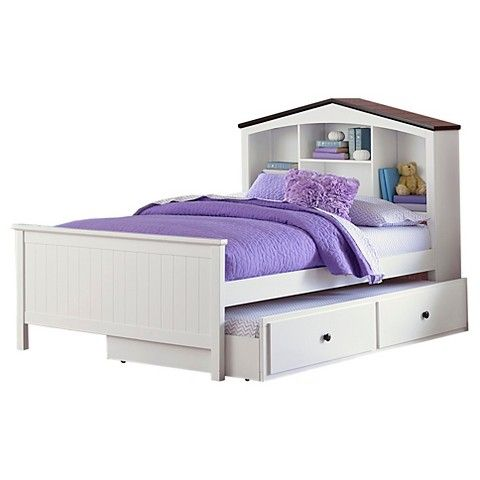 castle heights bookshelf headboard bed white twin trundle sold separately