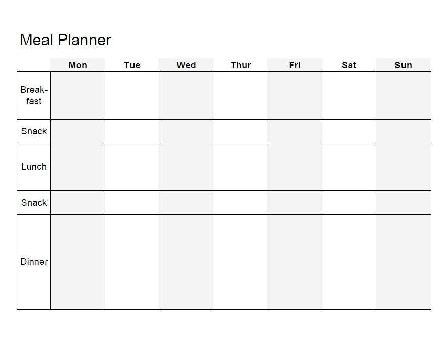 Meal Plan Template 03 ideal protein Pinterest Meal plan - weekly agenda template