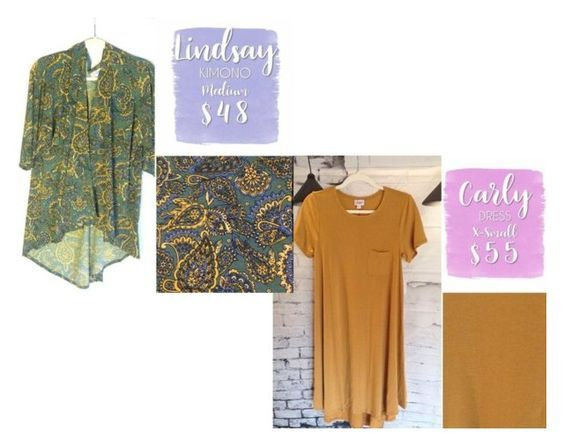 AVAILABLE NOW!!  CARLY DRESS & LINDSAY KIMONO. Shop LuLaRoe with Tamara Feather at https://www.facebook.com/groups/703261596502999/