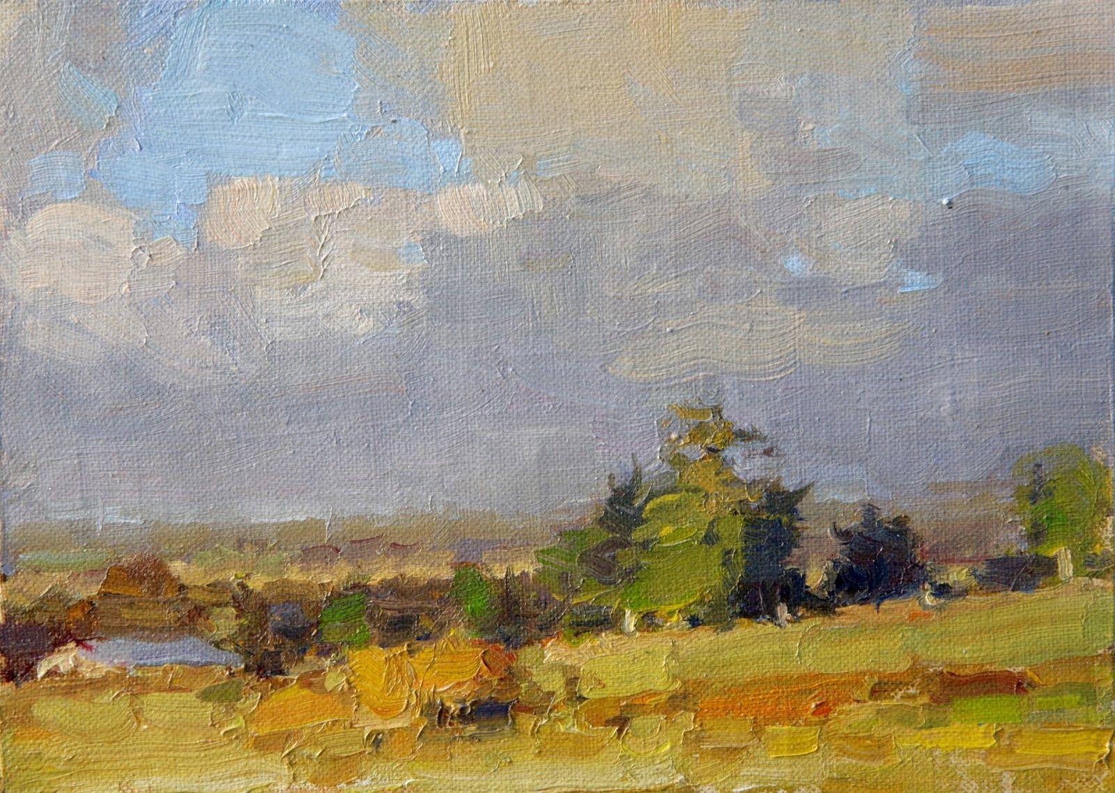 Jim McVicker . Loleta . oil on panel 5x7 . Plein Air ...