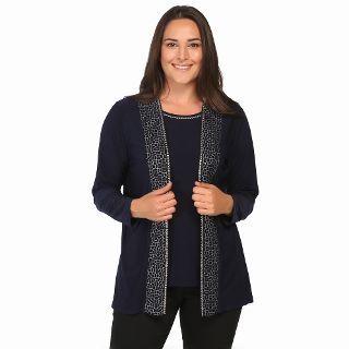 Arikan Concept Buyuk Beden Abiye Ceket Amp Bluz Takim 2230 Lacivert N11 Com Moda Stilleri Giyim Bluz
