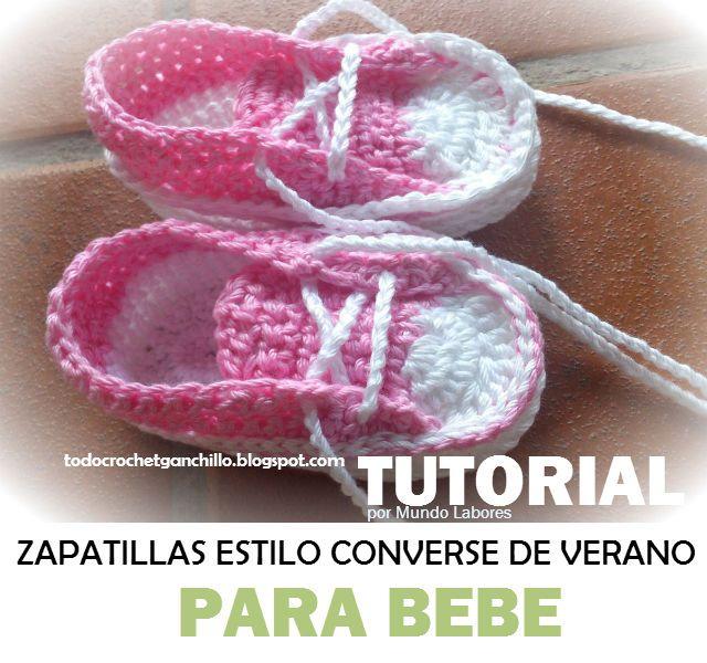 Tutorial de zapatillas patucos estilo converse para bebe paso a paso ...