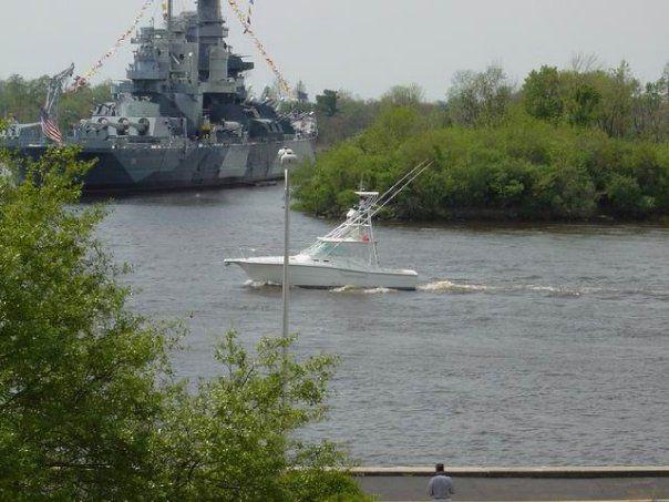 North Carolina Battle ship, part of my morning commute I miss