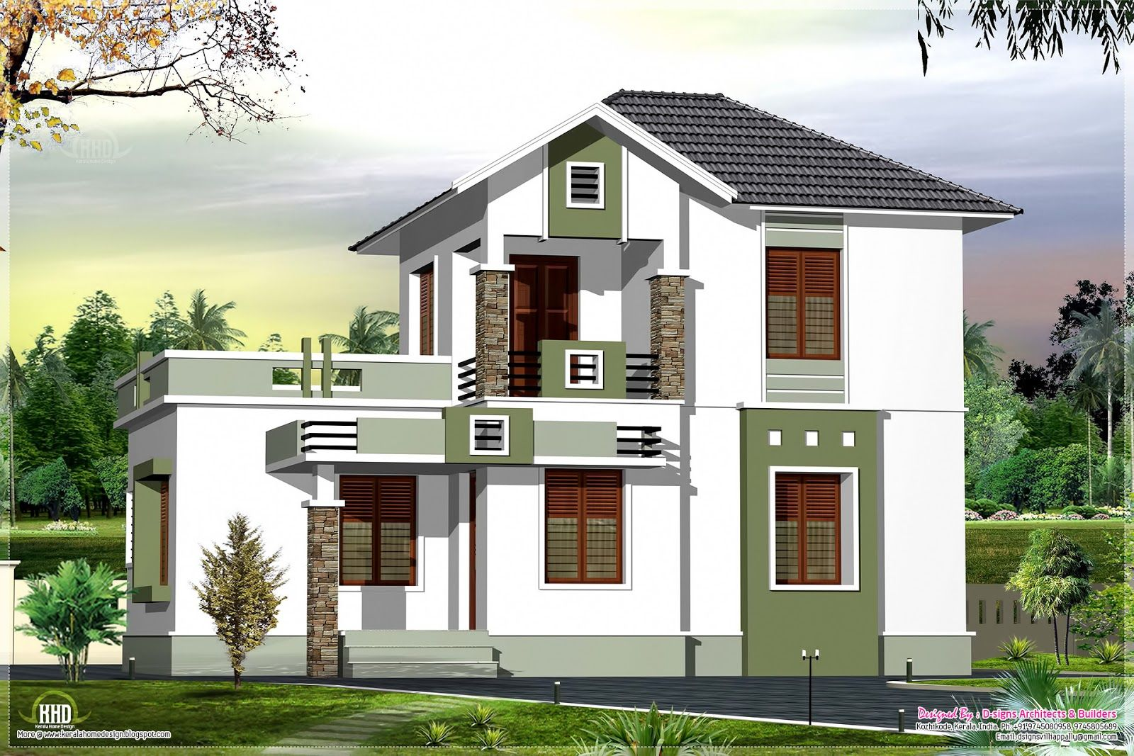 Indian home design with plan kerala and floor plans for Kerala small house design