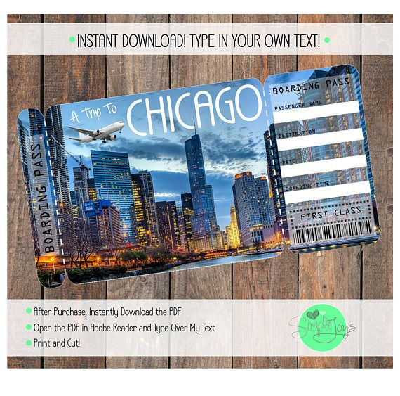 Surprise Anyone With A Trip To Chicago By Giving Them This