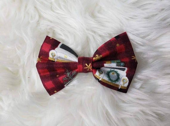 Gimbles, classic car, gifts,  Christmas, winter, red, black clip, hook and loop, nylon band, bow, bow tie, toddler, baby, child, hand made