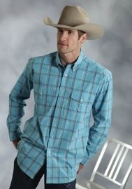 Roper Mens Amarillo Collection Turquoise Sea Style 03-001-0378-6016