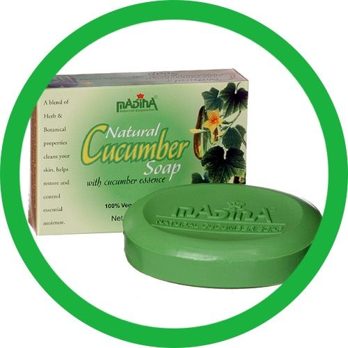 NATURAL CUCUMBER SOAP With cucumber essence 100% Vegetable base Net wt : 3.5oz A blend of Herb & botanical properties cleans your skin, helps restore and control essential moisture .
