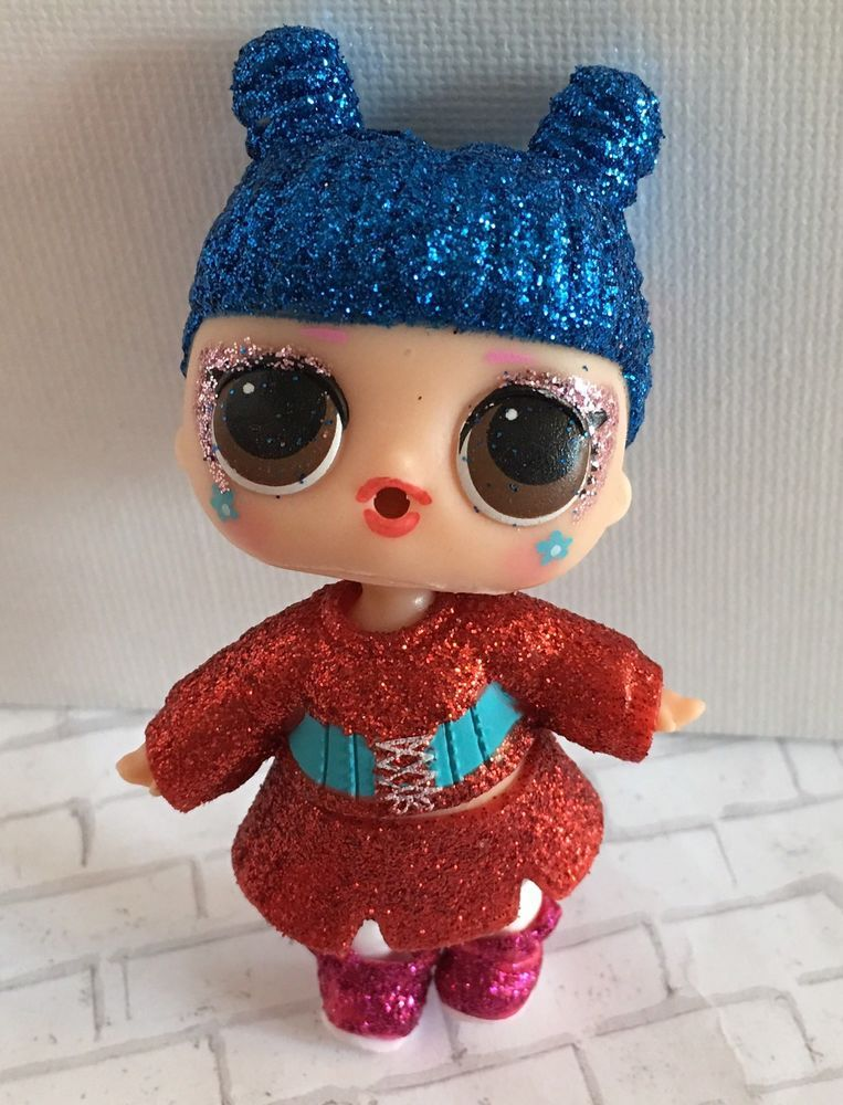 Rare LOL SURPRISE UNDER WRAPS BLING QUEEN GOLD RARE Glitter Hottest Toy Gift IT