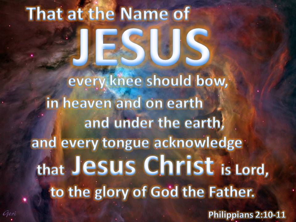 Image result for at the name of jesus every knee