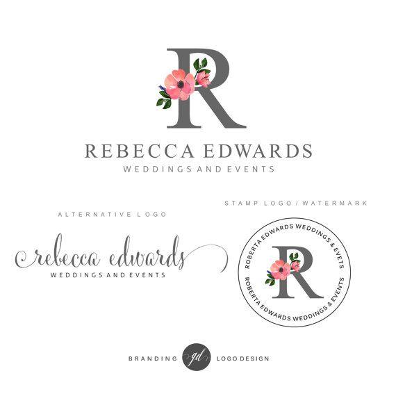 Wedding Planner Logo Design Premade Branding Kit By Gdloesign