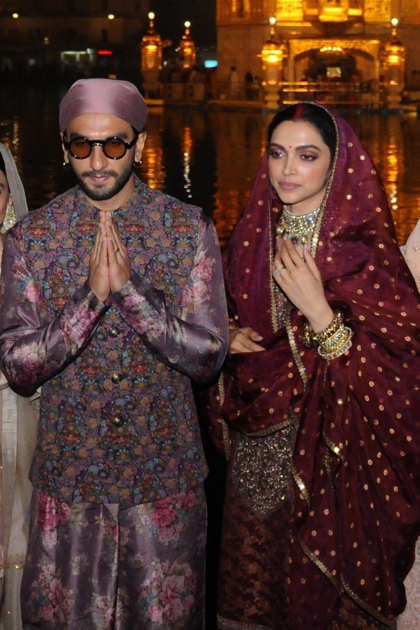 Deepika Padukone And Ranveer Singh Seek Blessings At ...