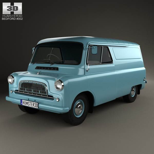 3d Model Of Bedford Ca Panel Van 1965 Classic Cars Vintage