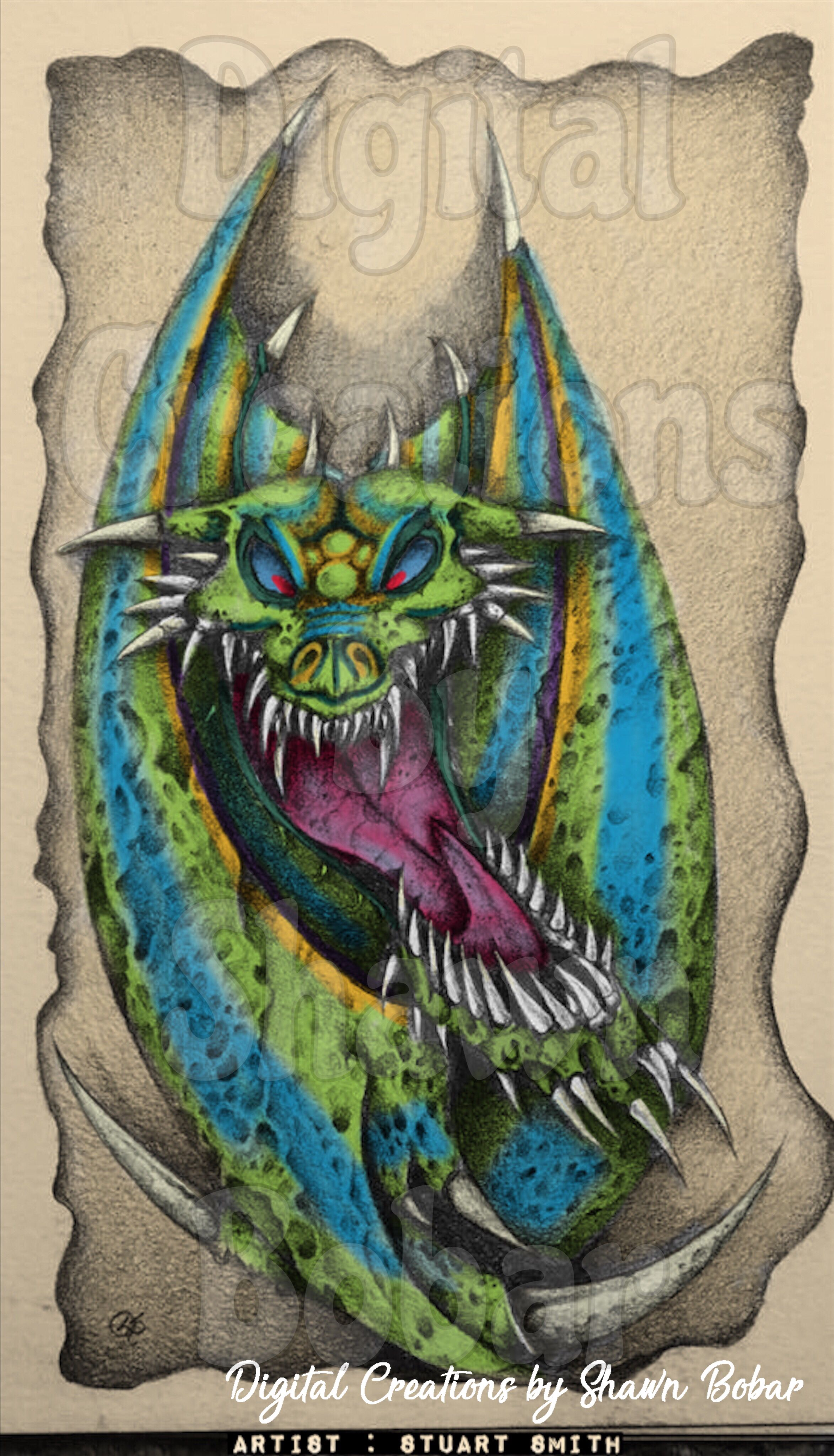 Artist Stuart Smith Digitally colored using Pigment
