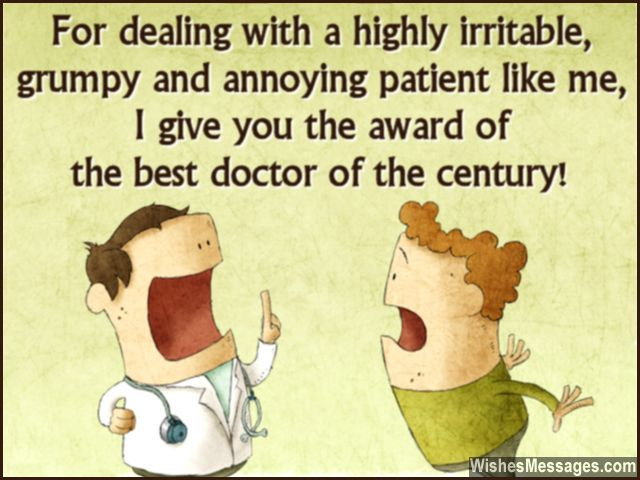 Funny Message To Say Thanks To A Doctor From Patient  Thank You