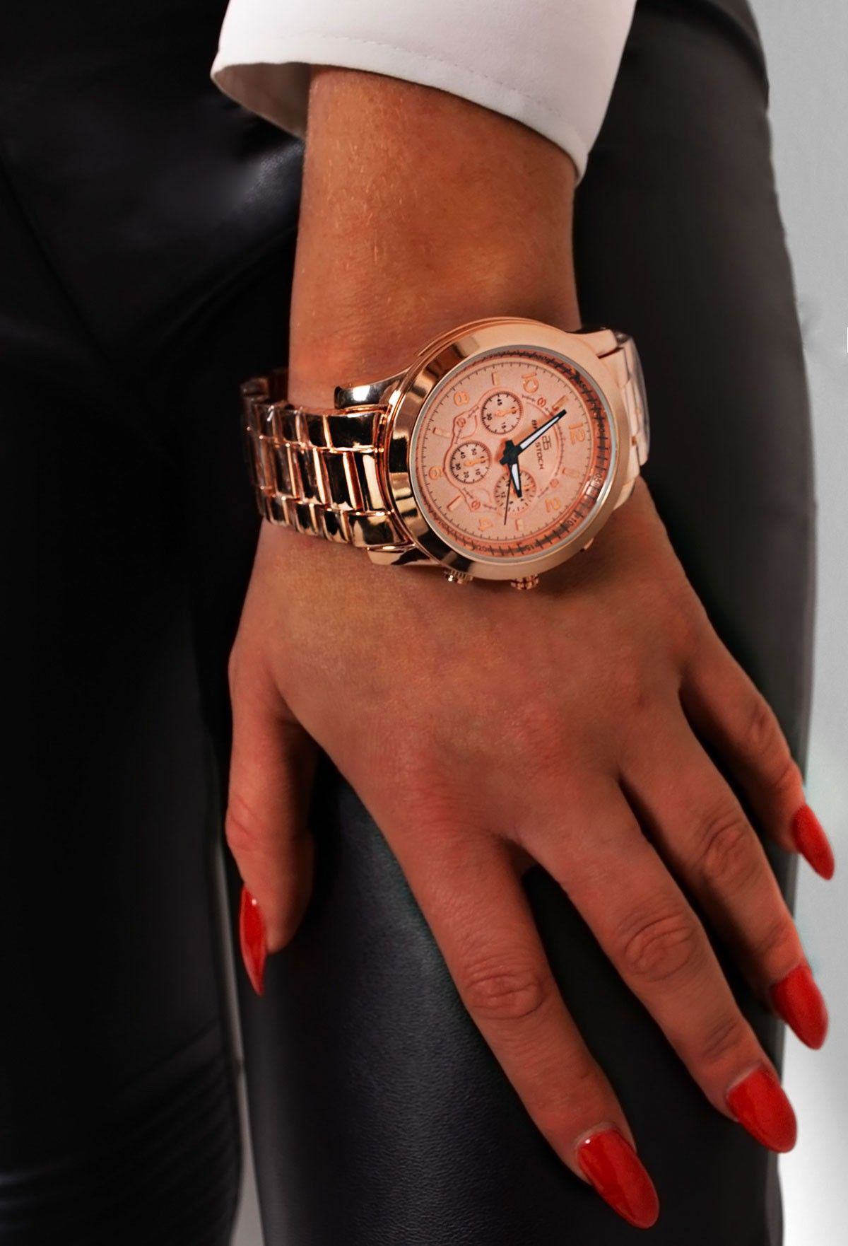 Diva Gold Chunky Link Watch
