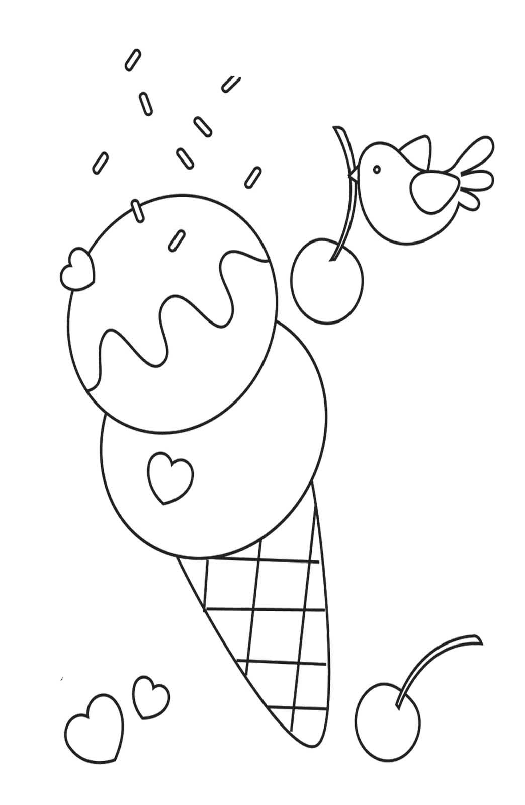 Delicious Sweet Ice Cream Coloring Pages | ice cream social | Pinterest