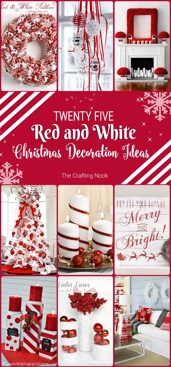 Red and white christmas decorations - 25 Red And White Christmas Decoration Ideas