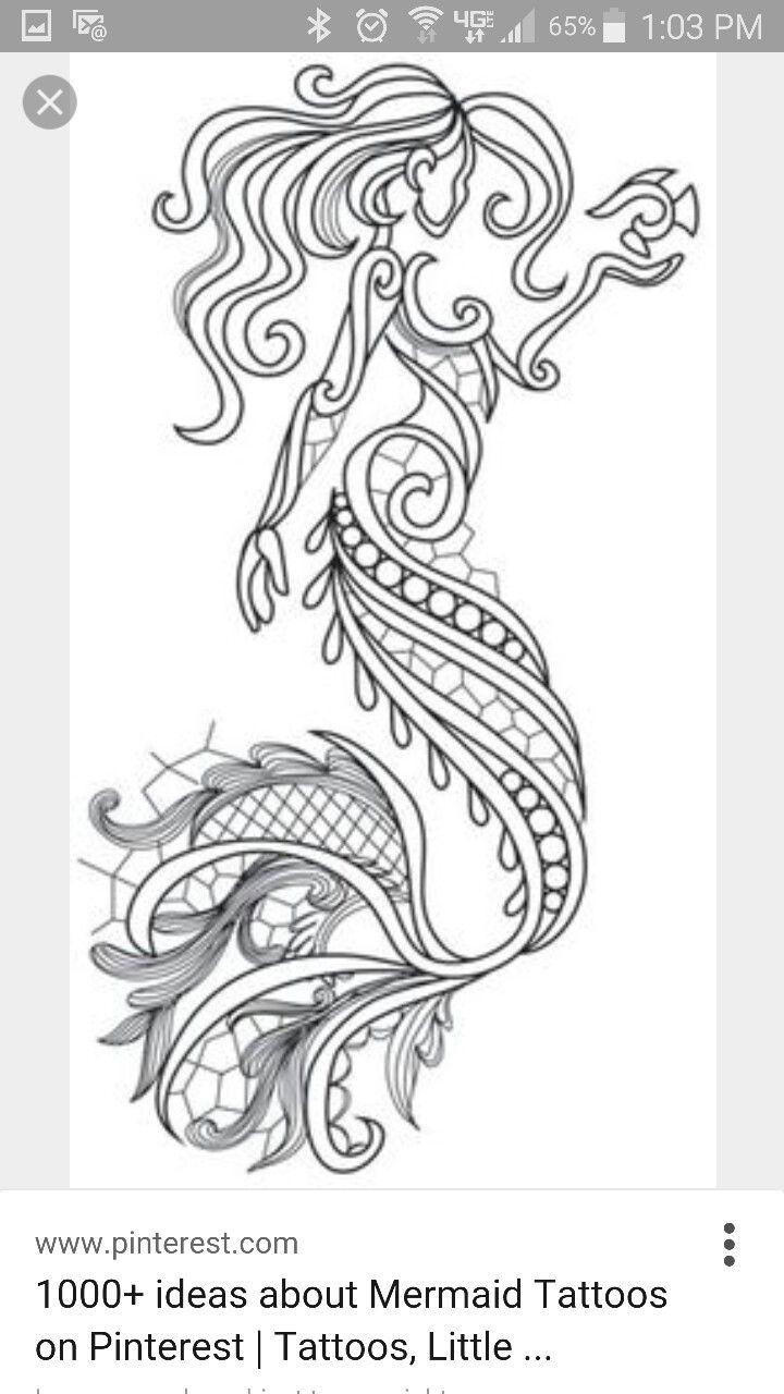 Mermaid tattoo | Tattoo Ideas | Pinterest | Zeichnen