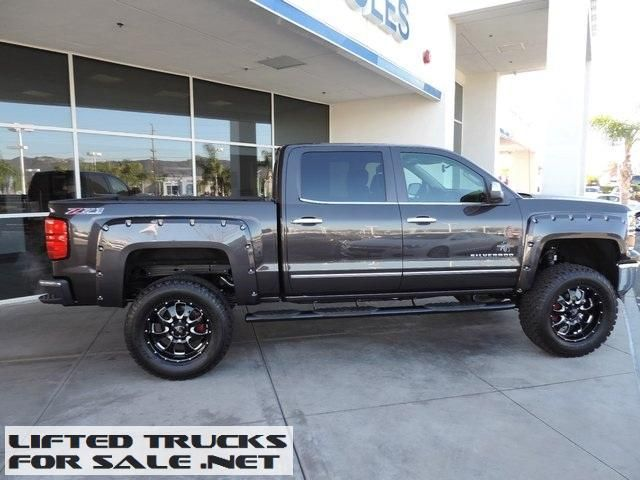 Lifted 2015 Chevy Silverado 1500 Ltz Southern Comfort Black Widow