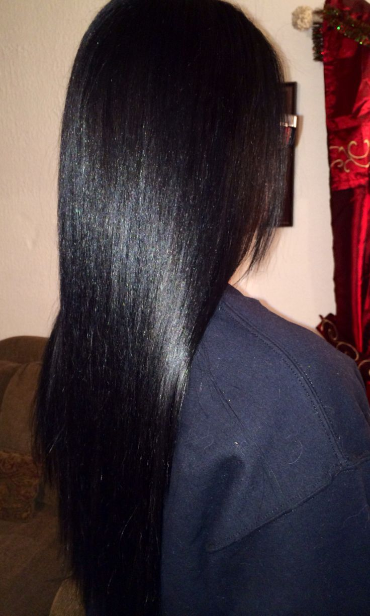 Jet hair black with blue tint video
