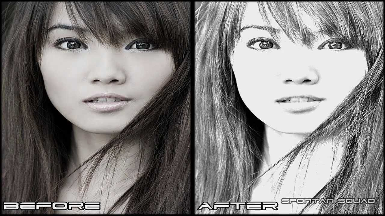 Adobe photoshop cs5 pencil sketch effect old photo ideas