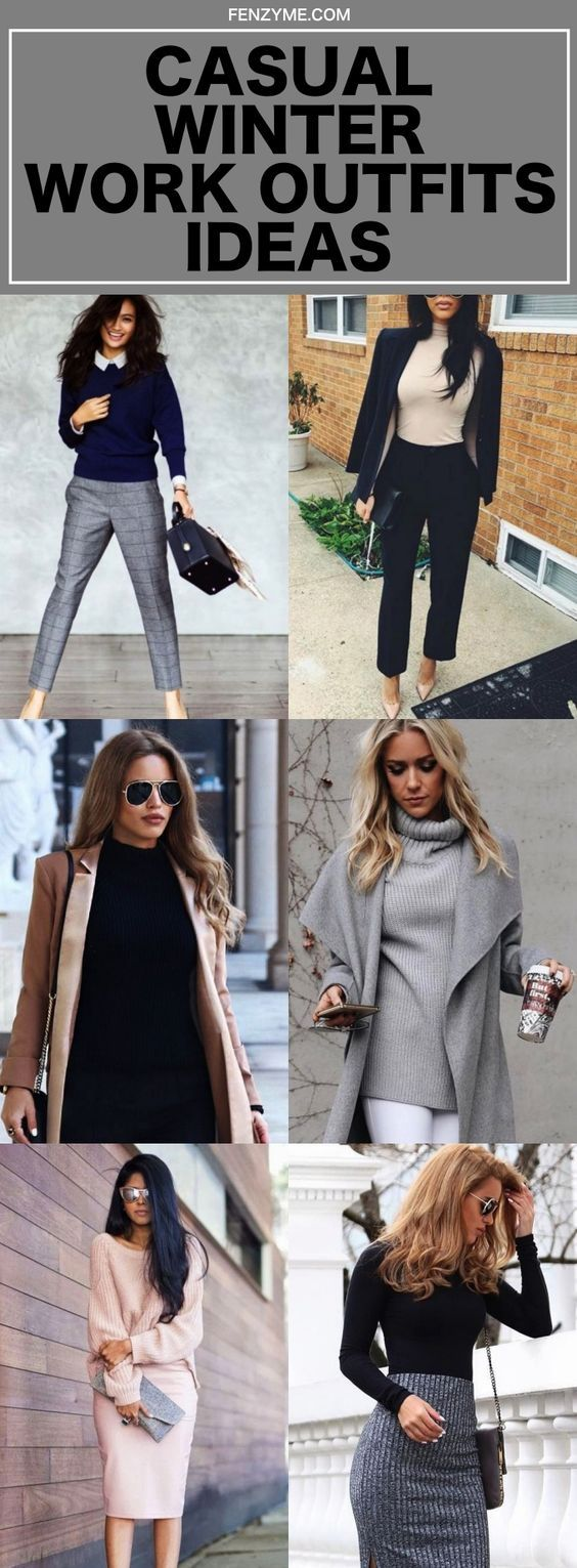 4229ee036ad5 42 Casual Winter Work Outfits Ideas 2018 | Fashion | Winter outfits ...