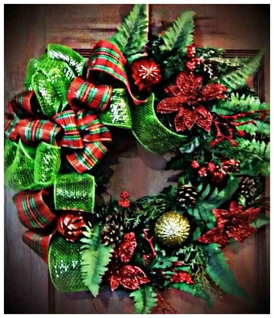Red Plaid, Green Sparkle