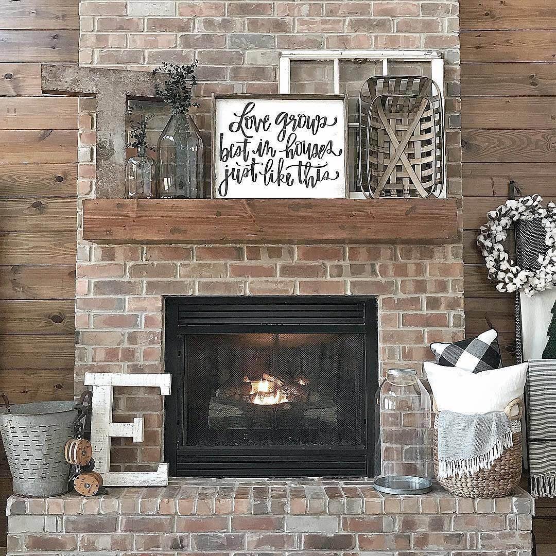 Fire Place Decorating Ideas Rustic Fireplace Decor Farm House