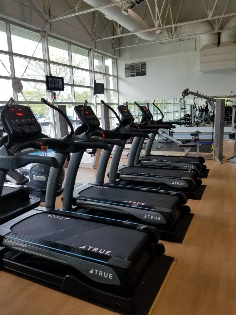 The Forte Fitness Team Delivered And Installed 9 New True Fitness Alpine Runners At Lansing Community College Y Lansing Community College Fit Team Installation