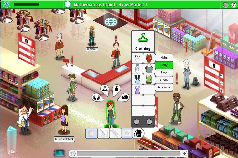 Game for science virtual world devoted to science