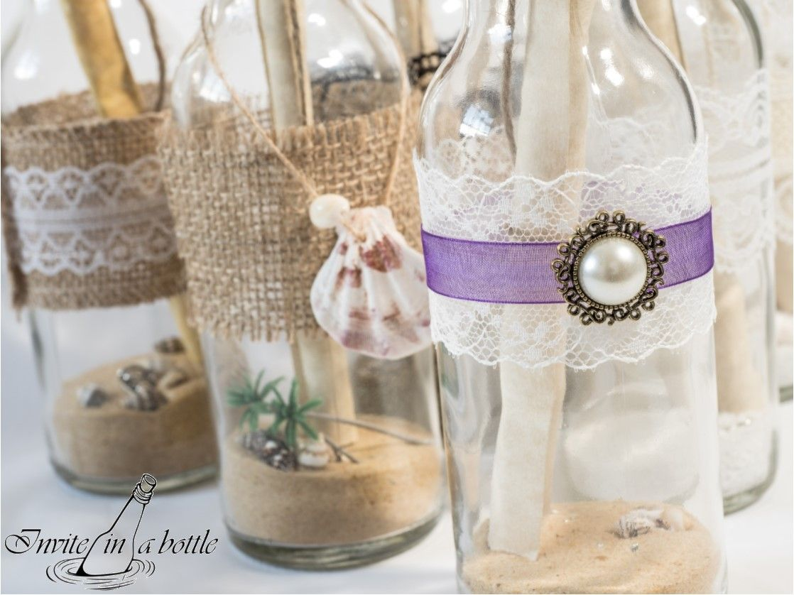 Beach Themed Wedding Invitations Uk: Message In A Bottle Style